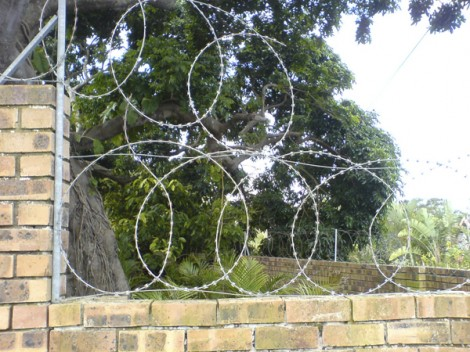 Razor wire, South Africa